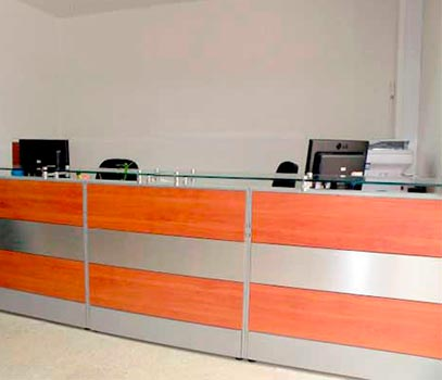 Recepcion Formica Brushed